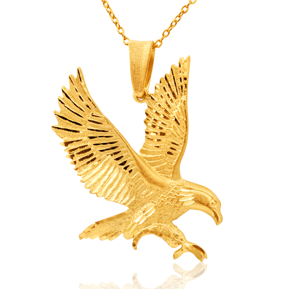 9ct Yellow Gold Eagle Pendant