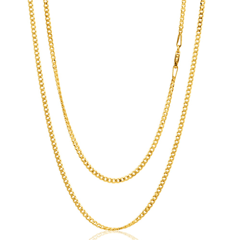 9ct Yellow Gold 50cm 60 Gauge Curb Chain