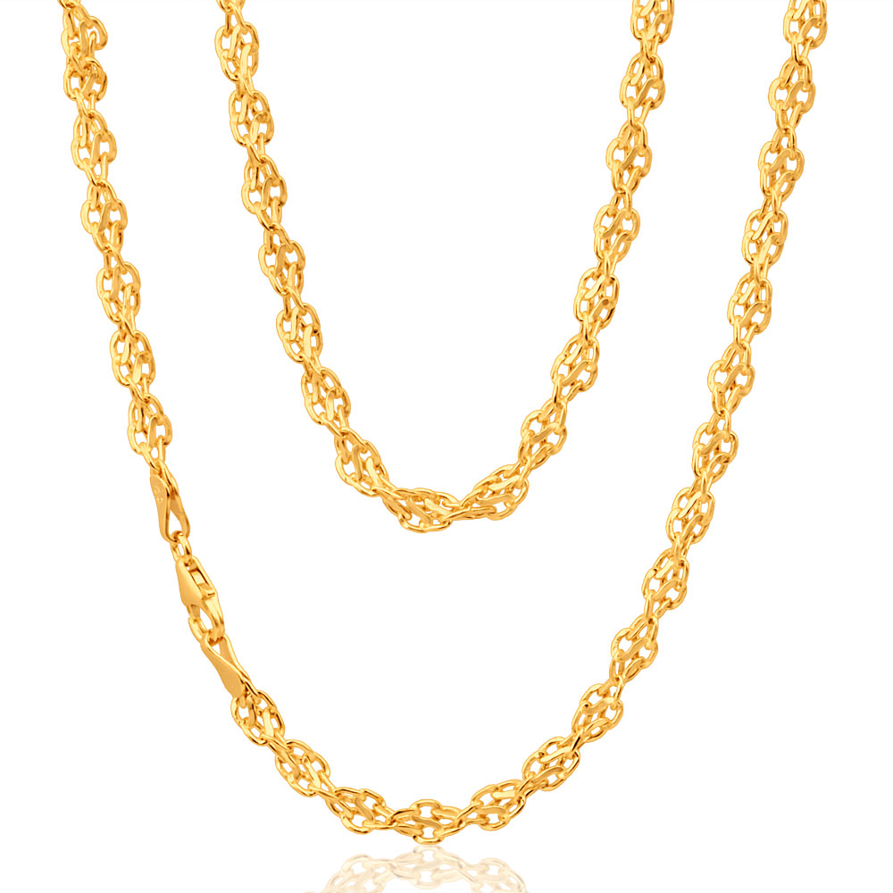 9ct Yellow Gold Copper Filled Singapore Chain