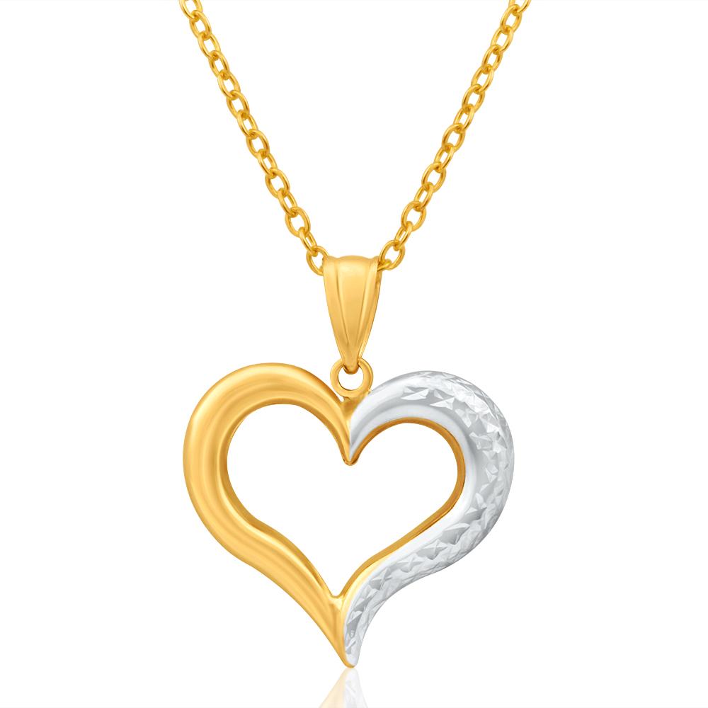 9ct Yellow Gold & White Gold Wonderful Pendant
