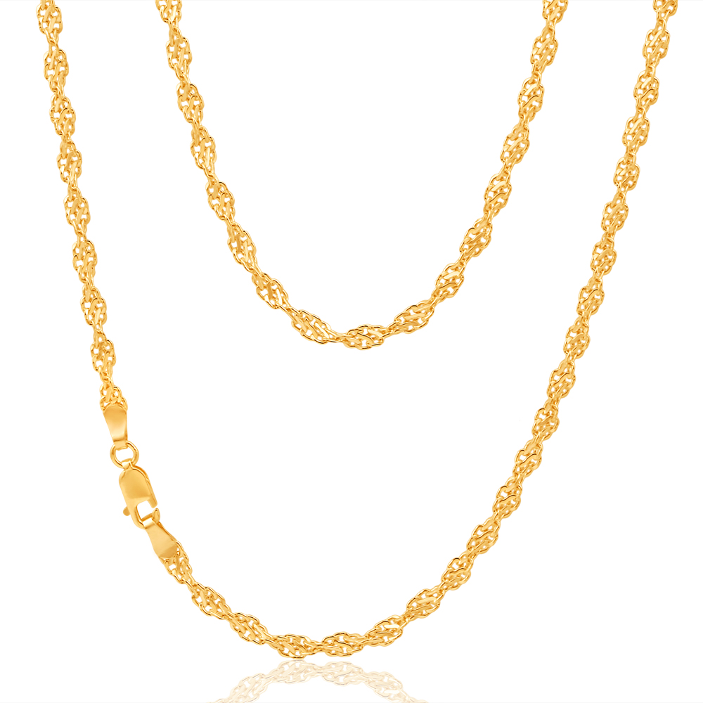 9ct Dazzling Yellow Gold Copper Filled Singapore Chain