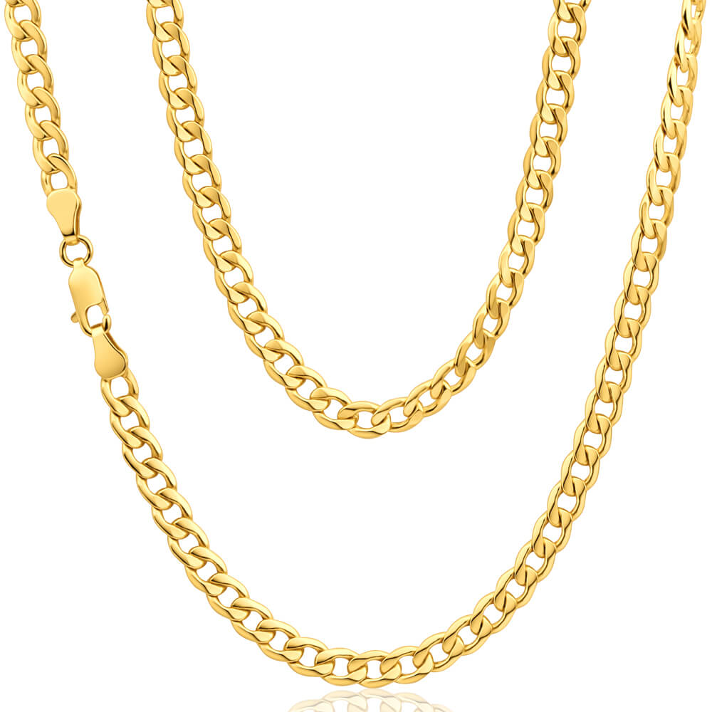 9ct Splendid Yellow Gold Copper Filled Curb Chain