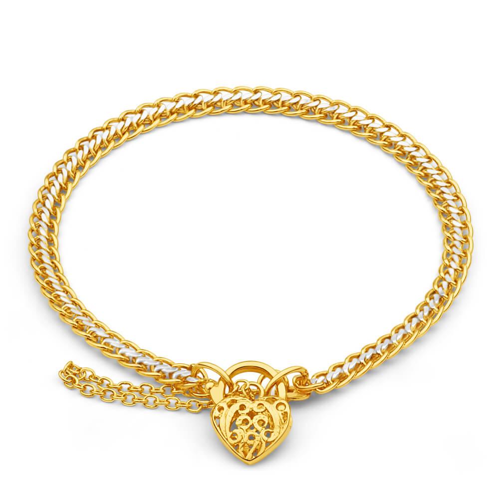 9ct Yellow Gold Copper Filled Fancy Bracelet