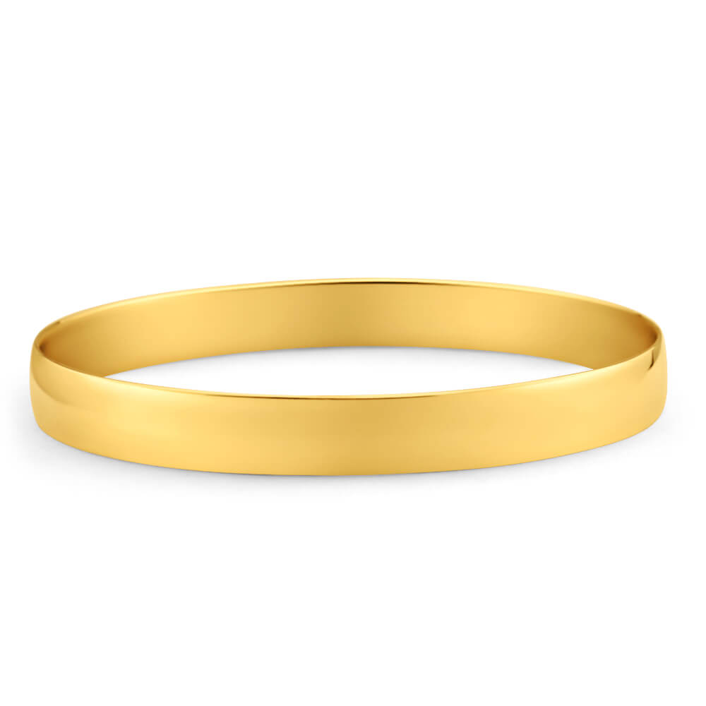 9ct Yellow Gold SOLID 8mm Bangle