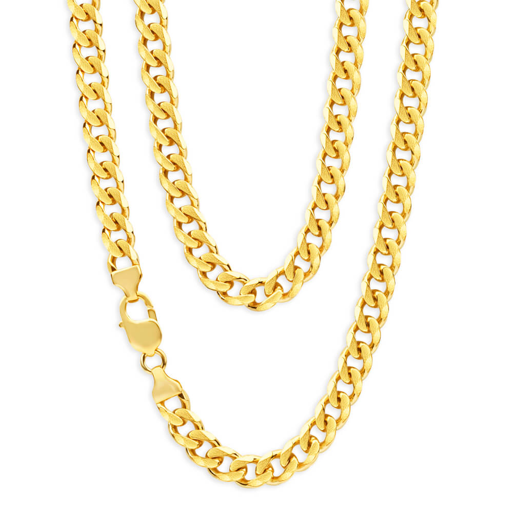 9ct Yellow Gold 60cm 200 Gauge Curb Chain