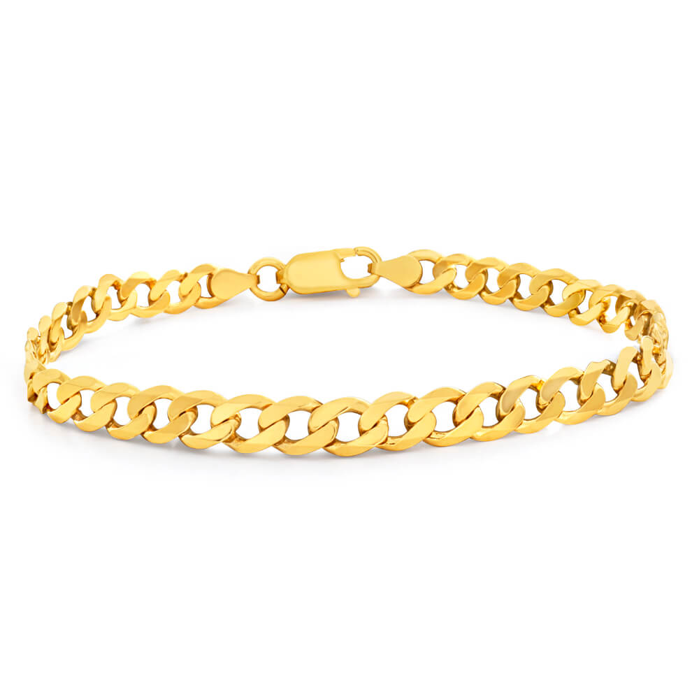 9ct Yellow Gold Enticing Curb Bracelet