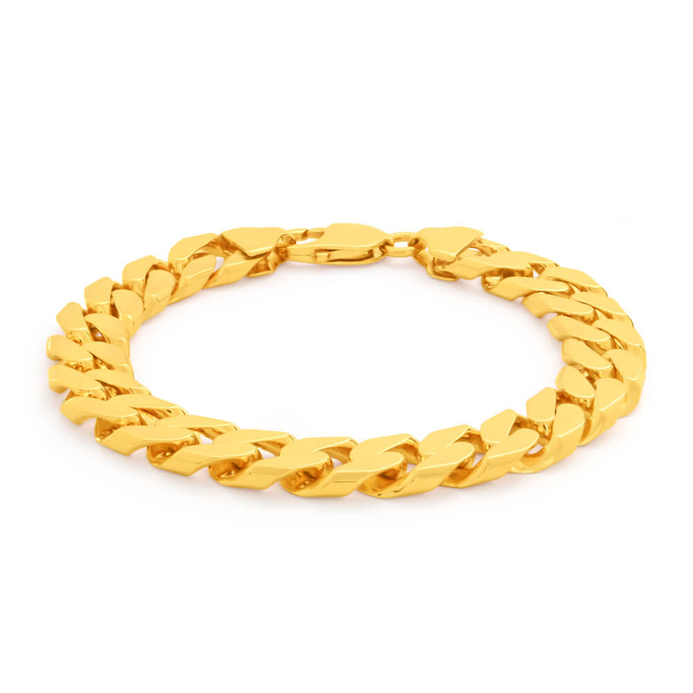 9ct Yellow Gold Divine Curb Bracelet