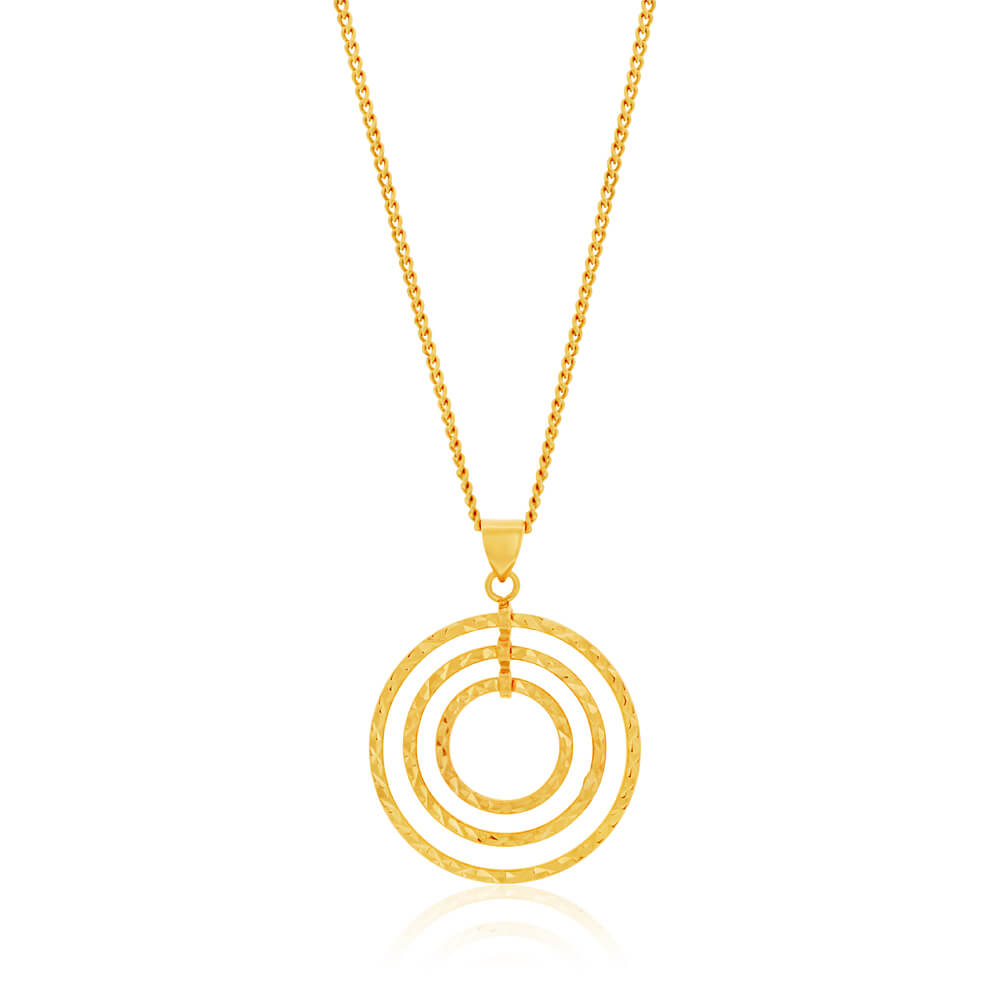 9ct Yellow Gold Gorgeous Pendant