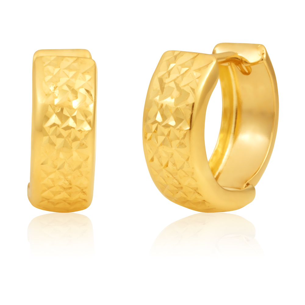 9ct Yellow Gold 10mm Huggies Earrrings