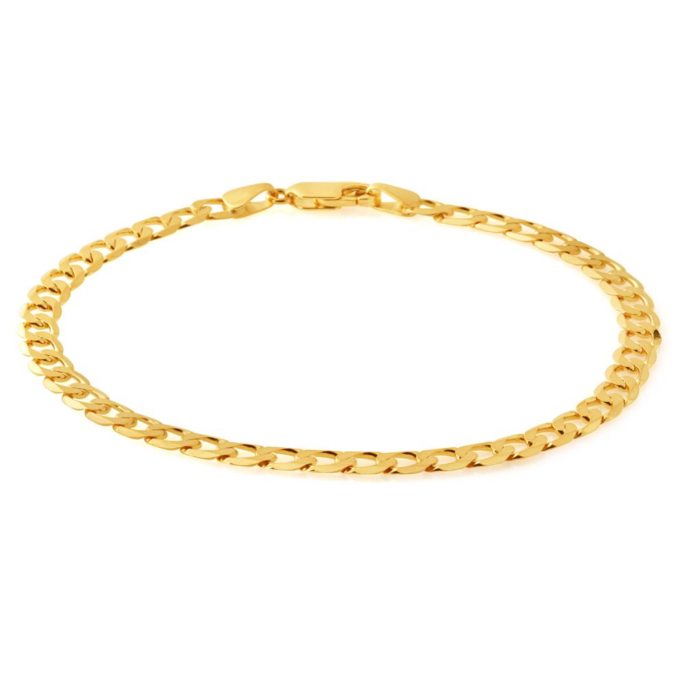 9ct Yellow Gold 21cm Curb Bracelet