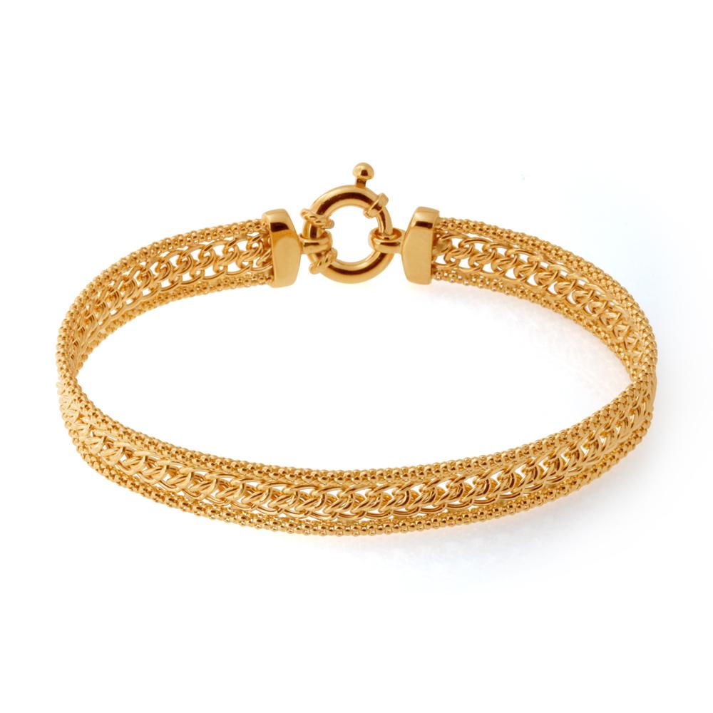 9ct Gold Fancy Mesh Bracelet 18cm