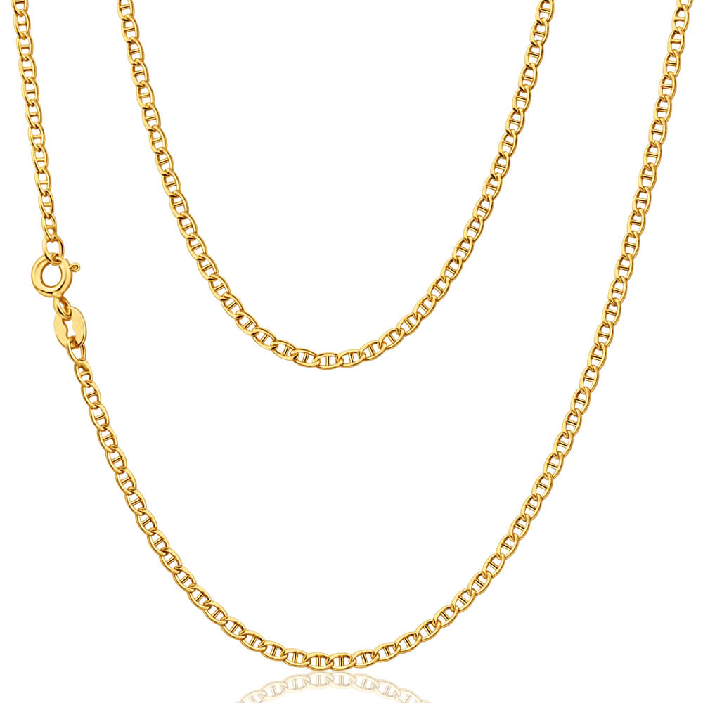 9ct Dazzling Yellow Gold Silver Filled Anchor Chain
