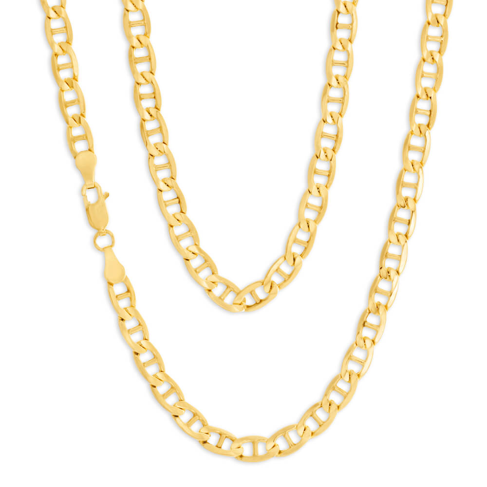 9ct Charming Yellow Gold Silver Filled Anchor Chain
