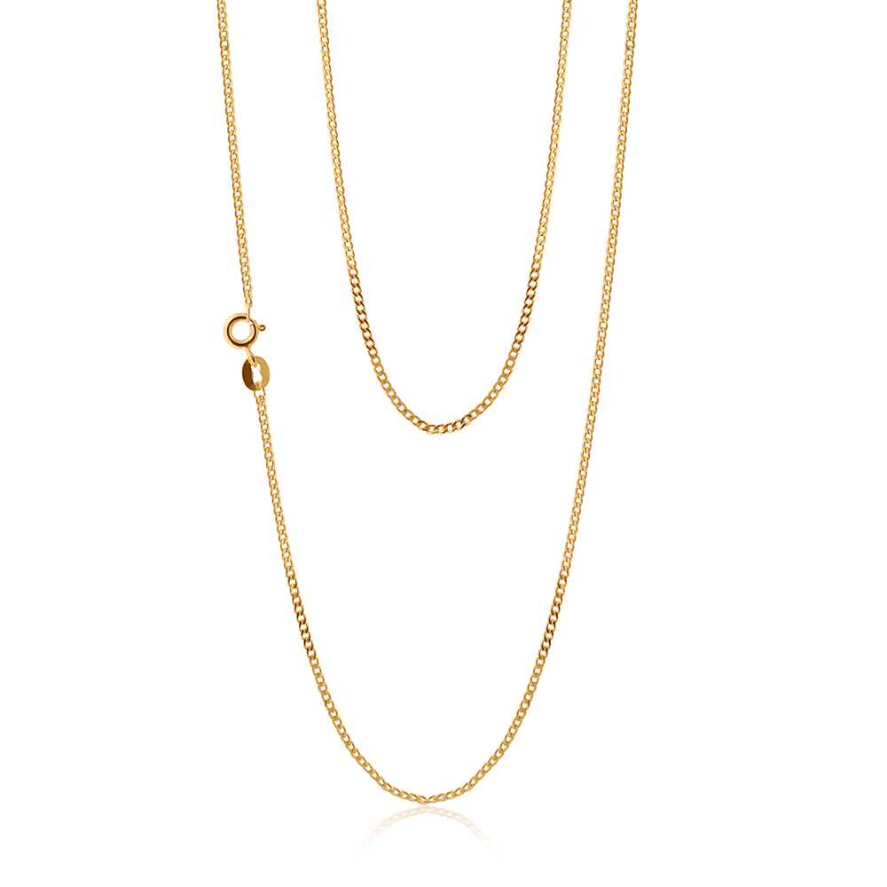 9ct Yellow Gold Silver Filled 50cm Curb Chain