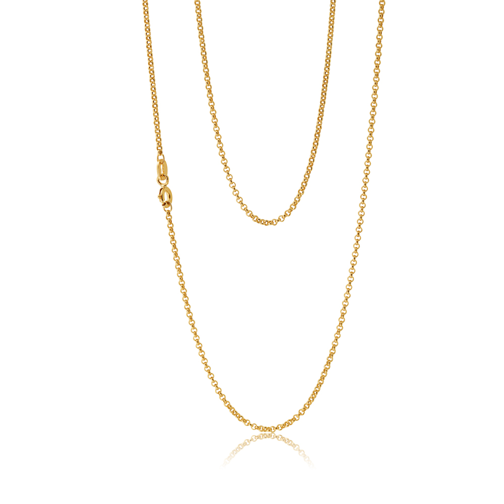 9ct Divine Yellow Gold Silver Filled Belcher Chain