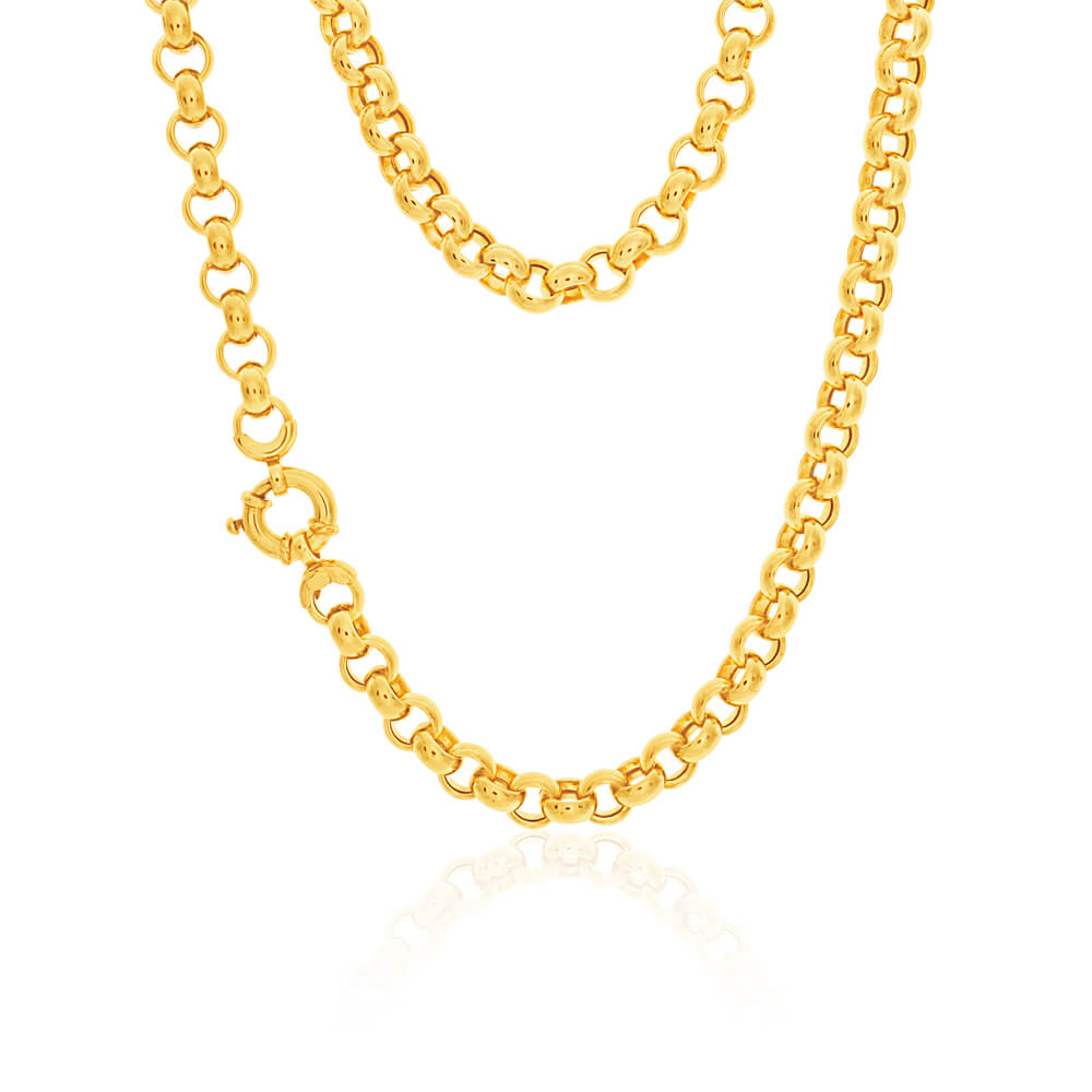 9ct Yellow Gold Silver Filled Belcher Chain