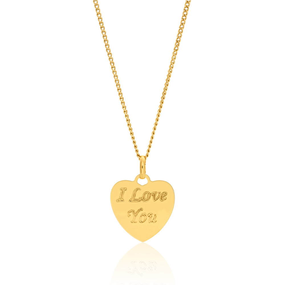 9ct Gold Filled I Love You Pendant