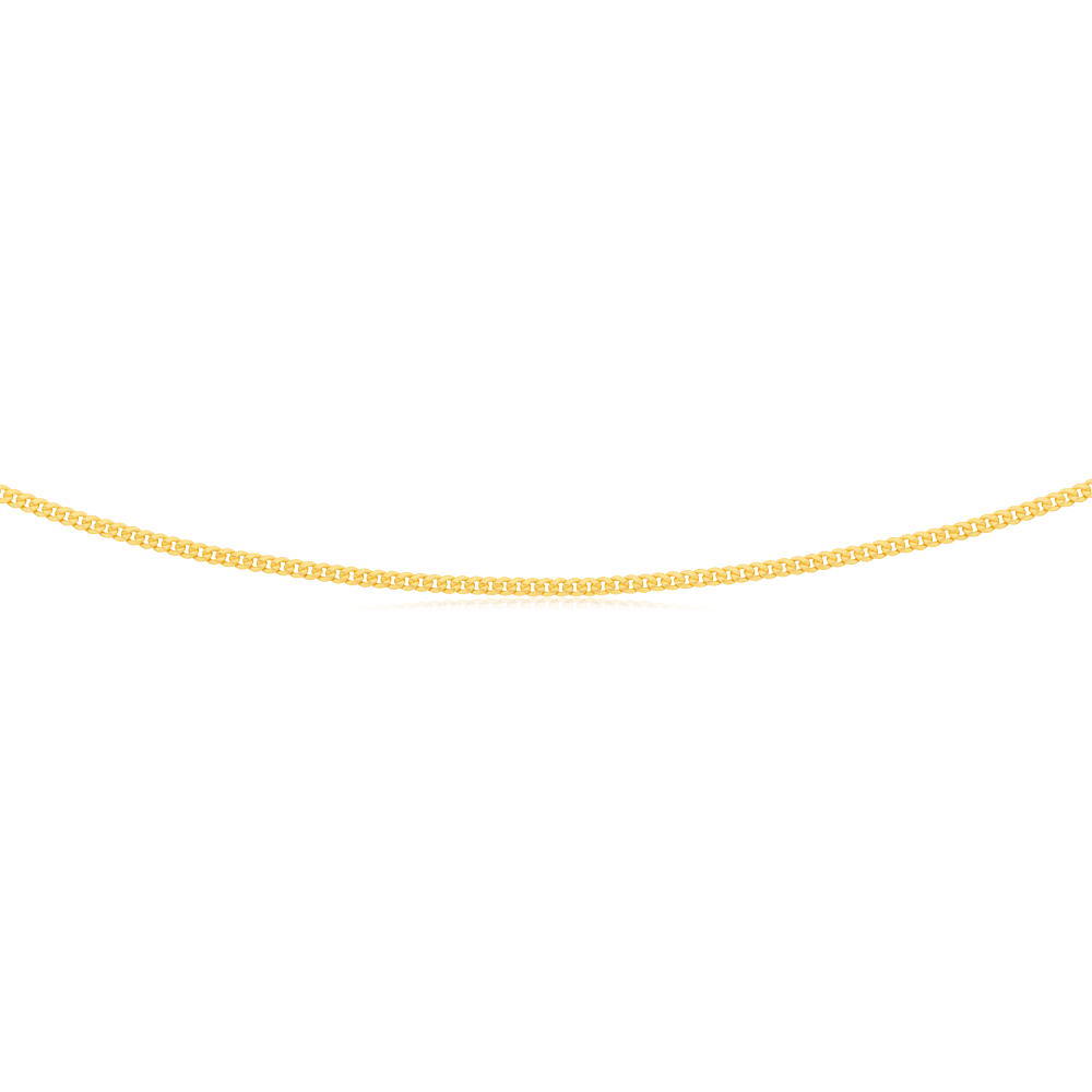 9ct Yellow Gold Silverfilled 50cm Curb Chain