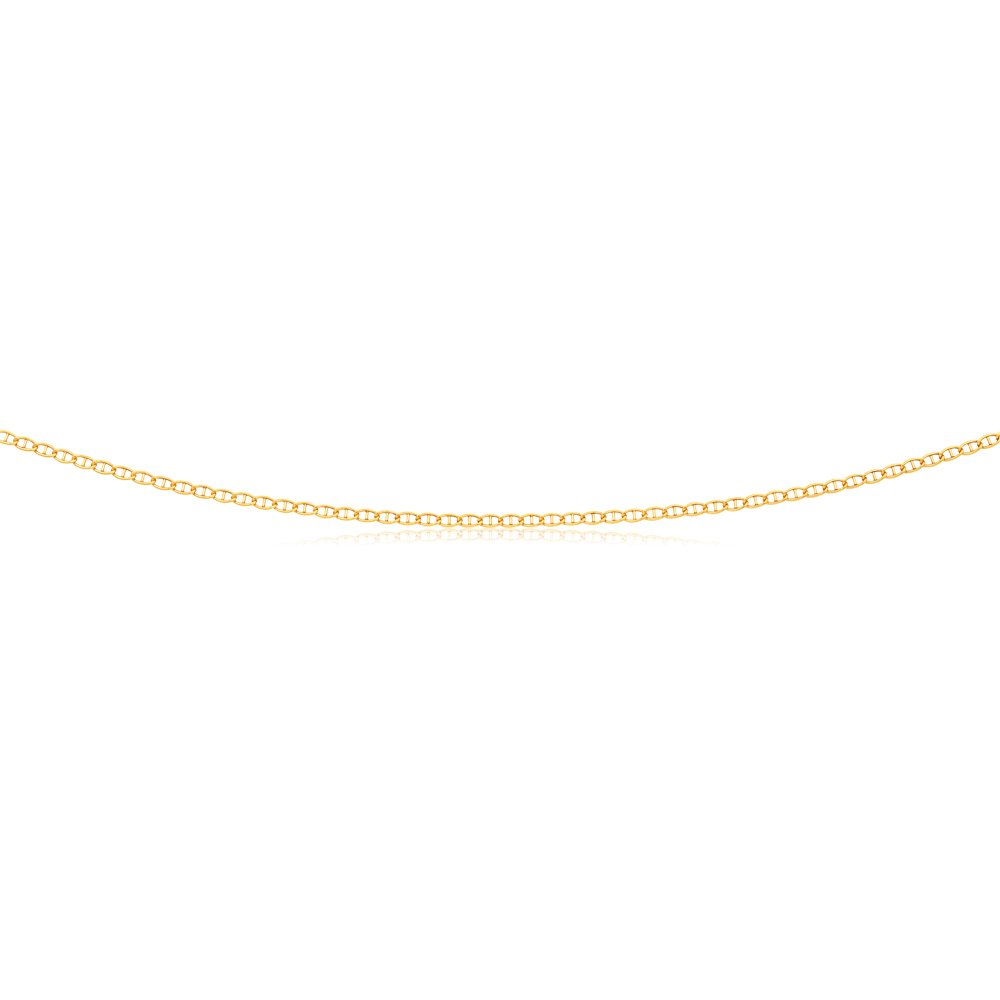 Silverfilled 45cm Anchor Link Chain 40Gauge