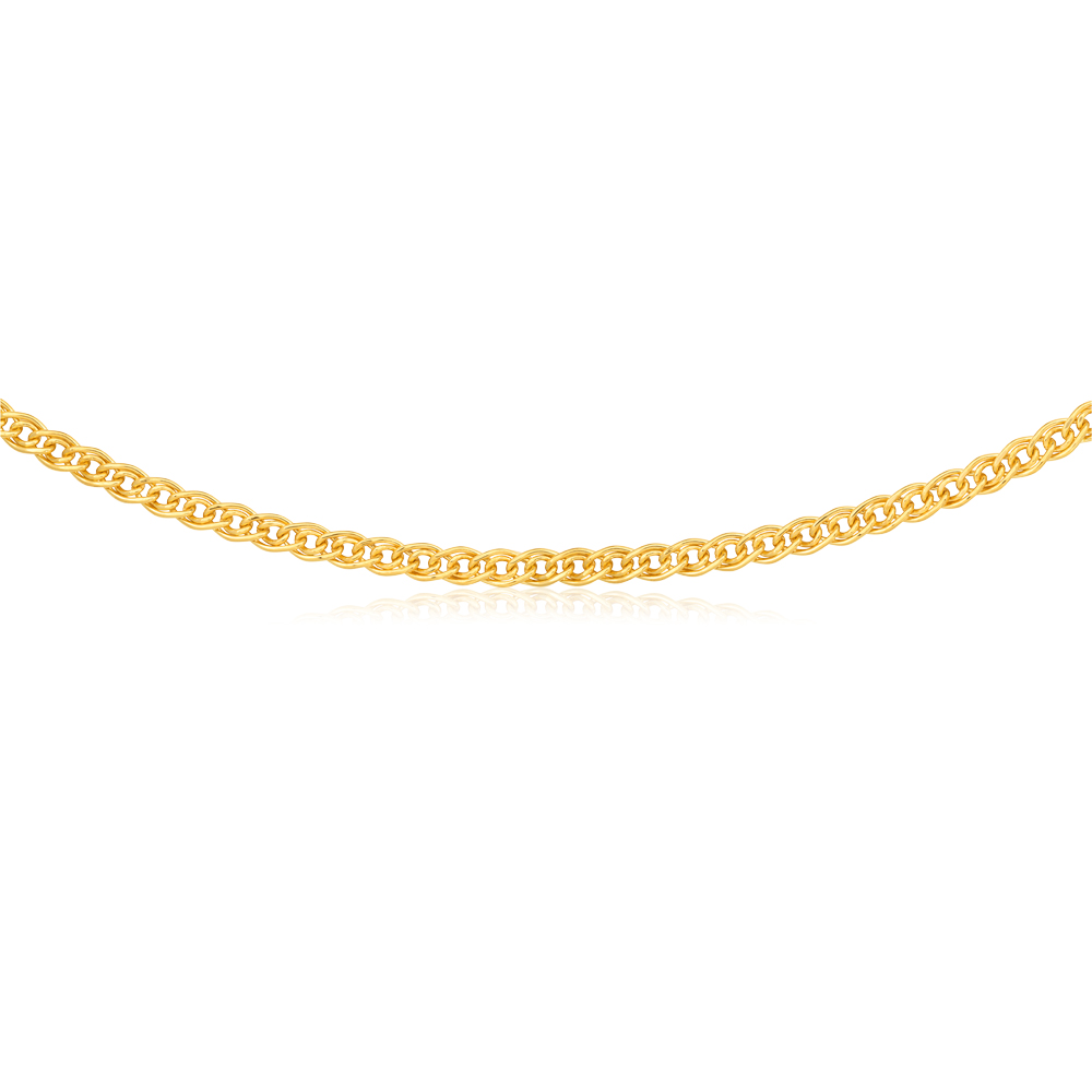 9ct Yellow Gold Filled Double Curb 45cm 120 Gauge Chain