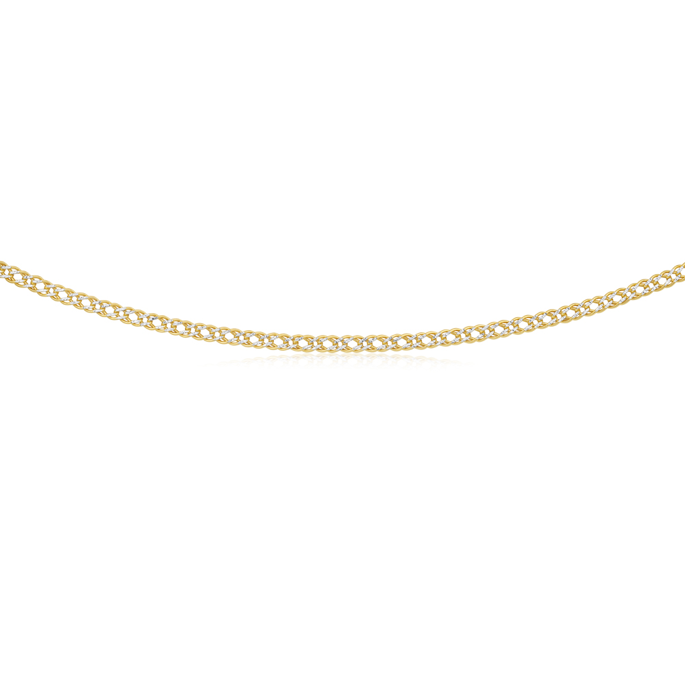 9ct Two-Tone Gold Filled 45cm Double Curb Chain
