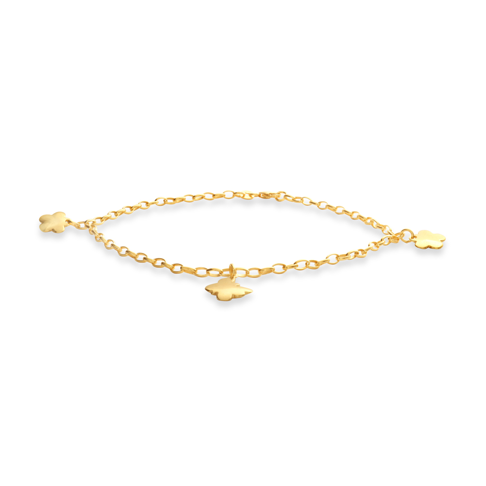 9ct Yellow Gold-Filled 27cm Anklet