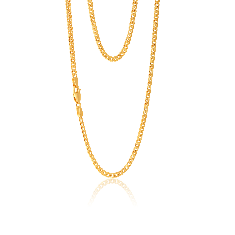 9ct Yellow Gold Filled 60cm Curb Chain