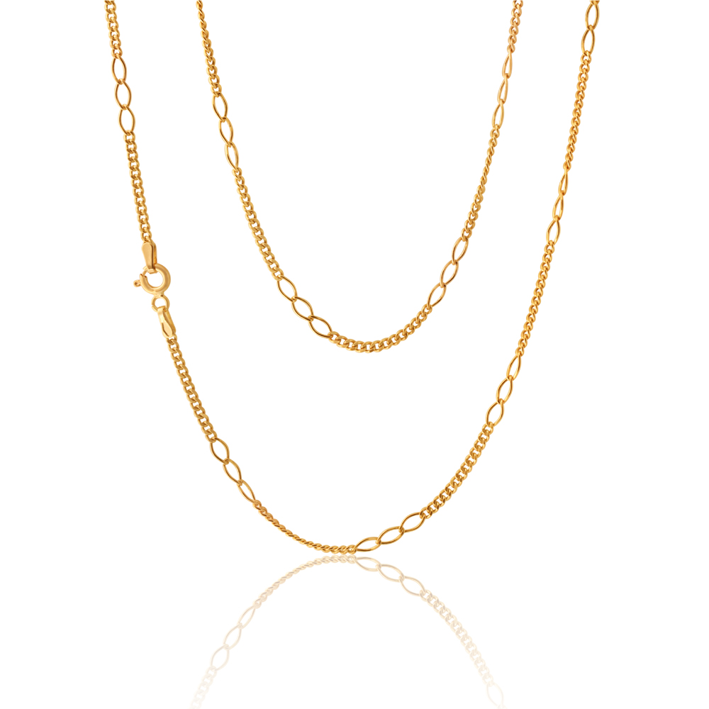 Silvefilled Figaro 50cm Chain