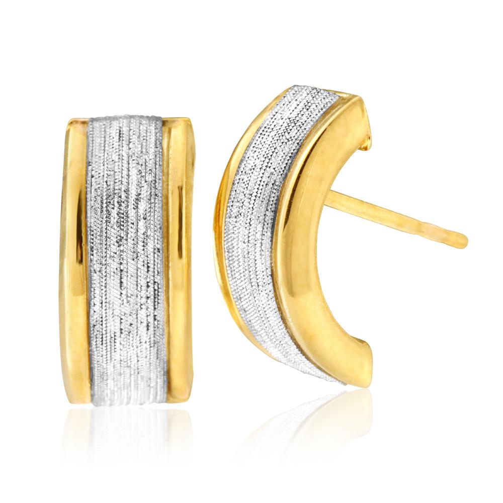 9ct Silver Filled Stardust Half Hoop Earrings