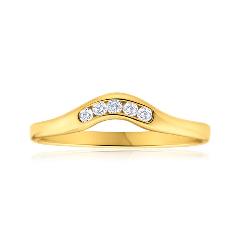 9ct Yellow Gold Diamond Magestic Ring