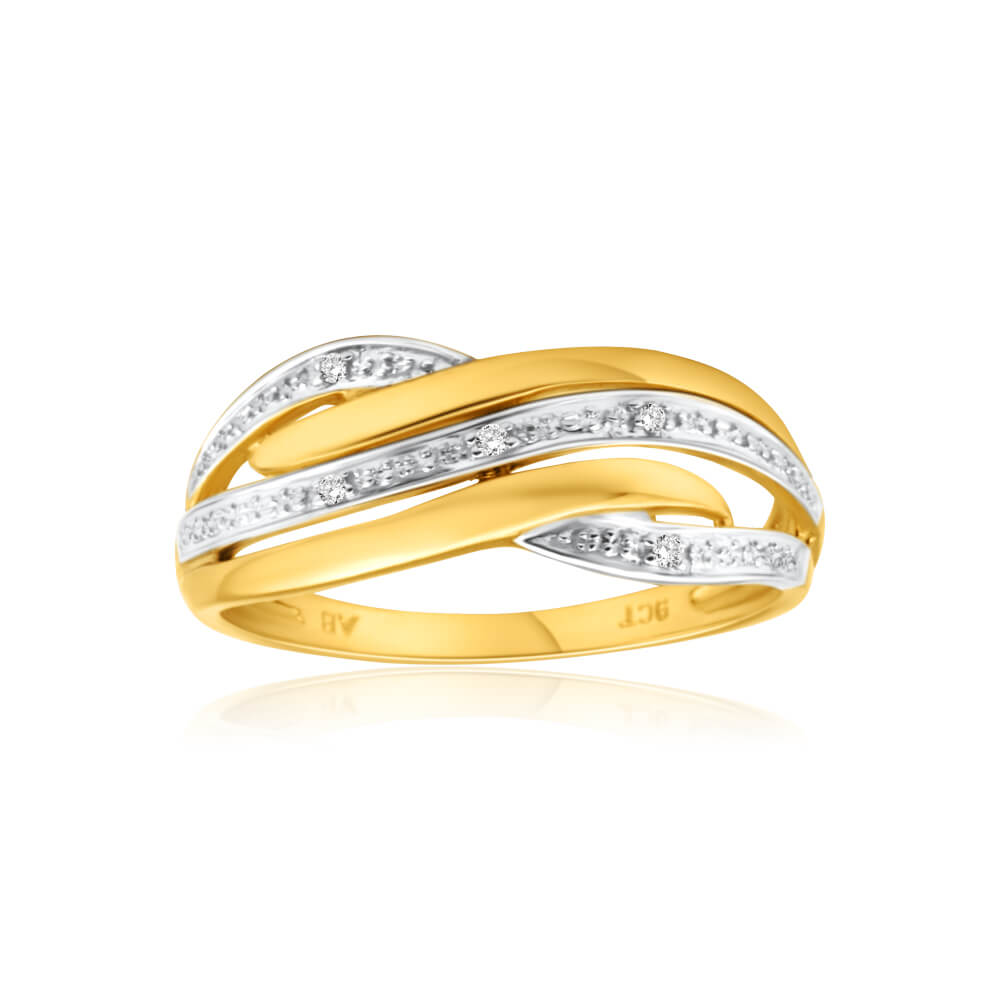 "9ct Yellow Gold ""Darla"" Diamond Ring"