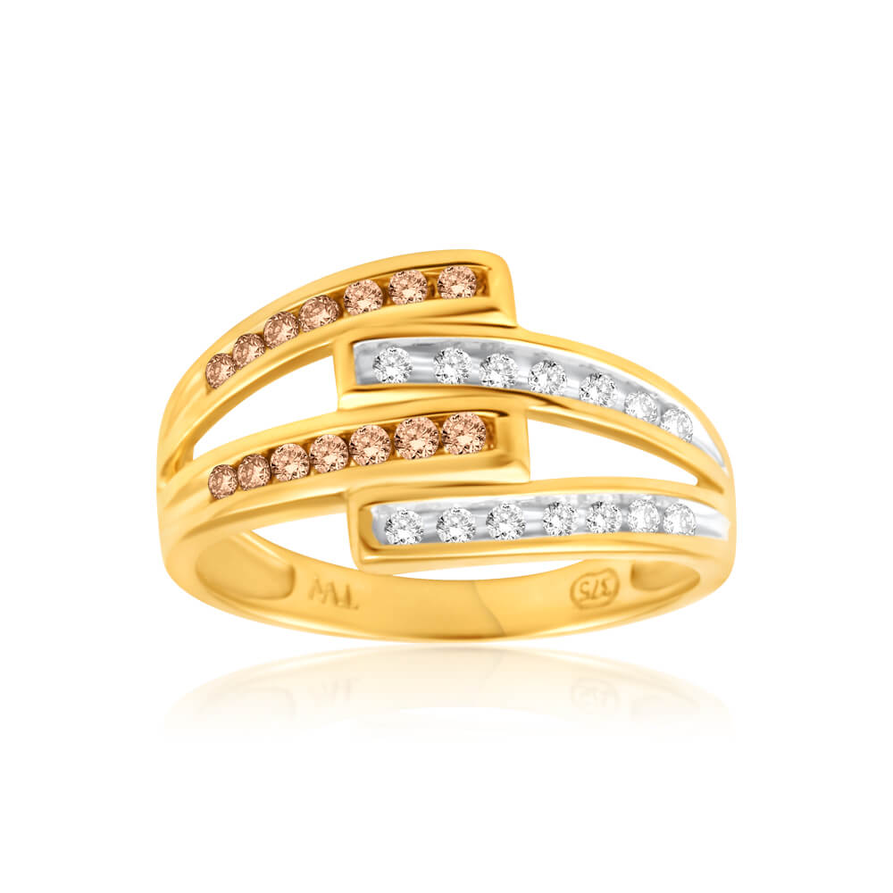 Australian Diamond 9ct Yellow Gold Diamond Ring