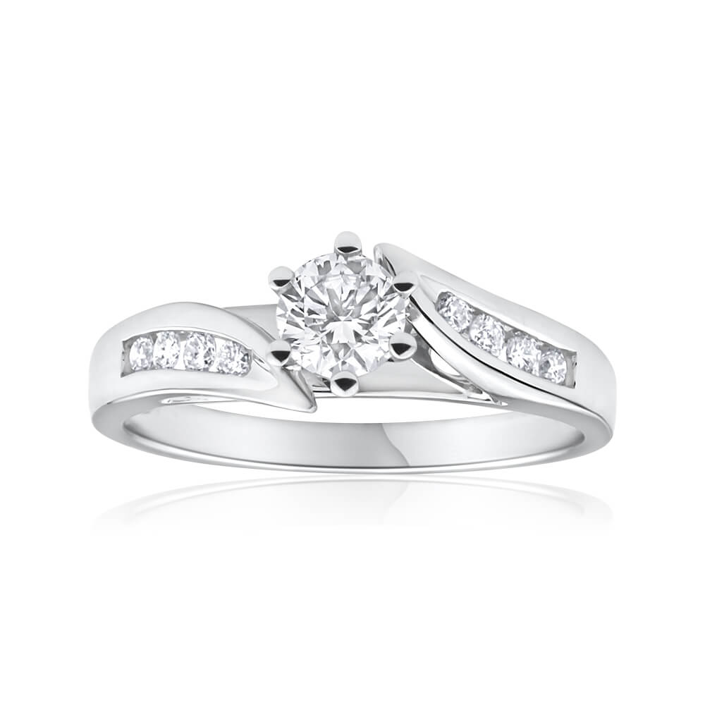 18ct White Gold Ring With 0.5 Carats Of Brilliant Cut Diamonds