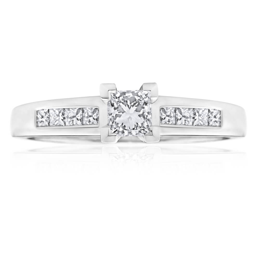 18ct White Gold 'Ariel' Ring With 0.62 Carats Of Diamonds