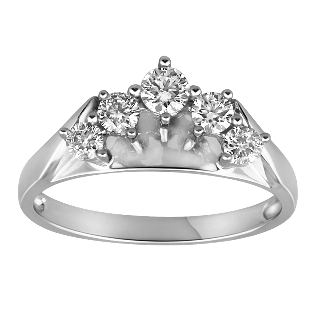 18ct  White Gold Ring With 1/2 Carat Of Diamonds