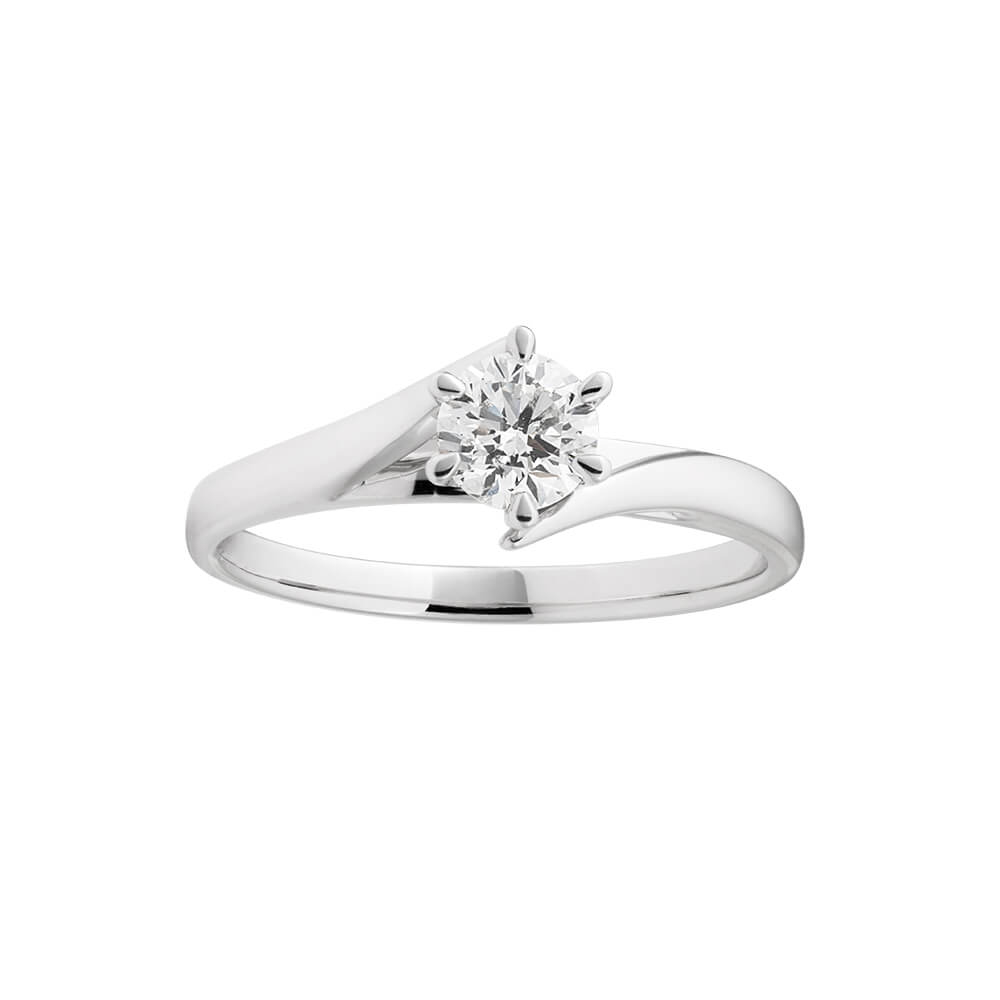 Certified Diamond 18ct White Gold Diamond Ring