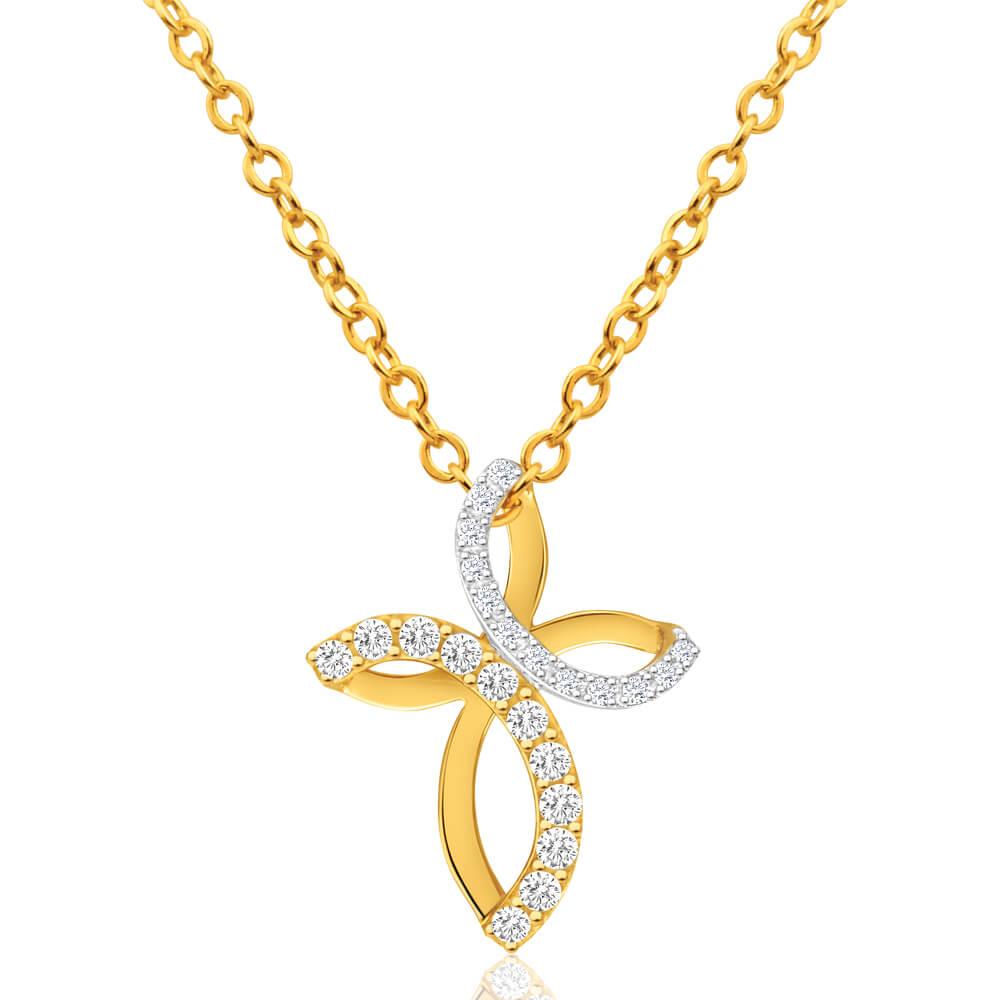 Australian Diamond 9ct Yellow Gold Diamond Pendant