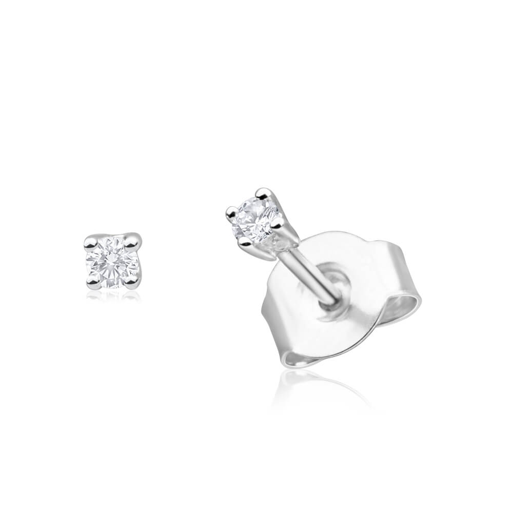 9ct White Gold Opulent Diamond Stud Earrings