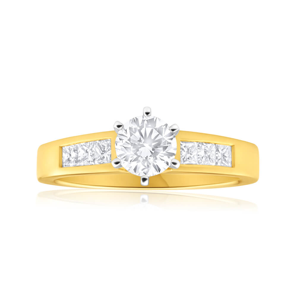 18ct Yellow Gold Ring With 1.1 Carats Of Diamonds