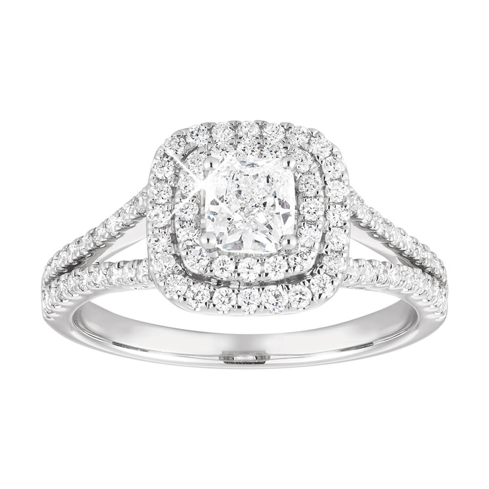 14ct White Gold Ring With 1.5 Carats Of Diamonds