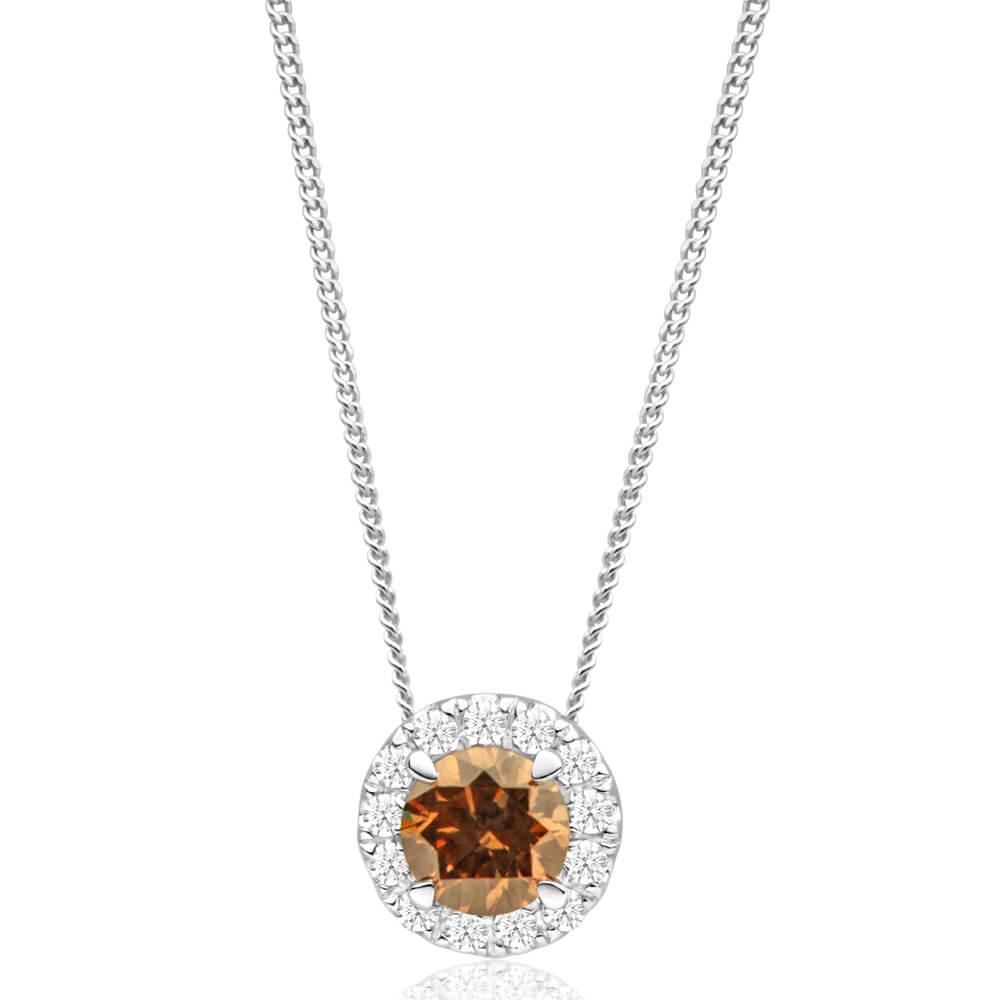 Australian Diamond 9ct White Gold Diamond Pendant With Chain CONNIE