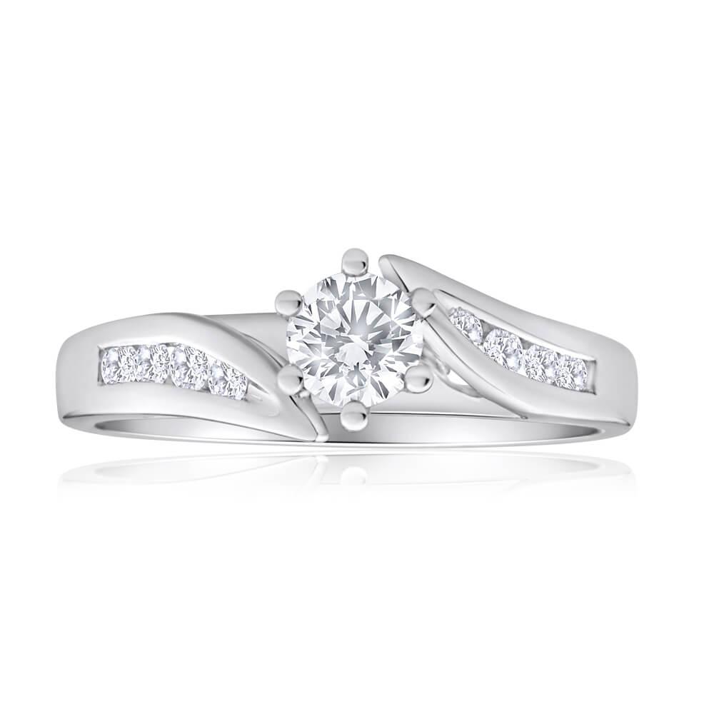 18ct White Gold 1/2 Carat Diamond Ring