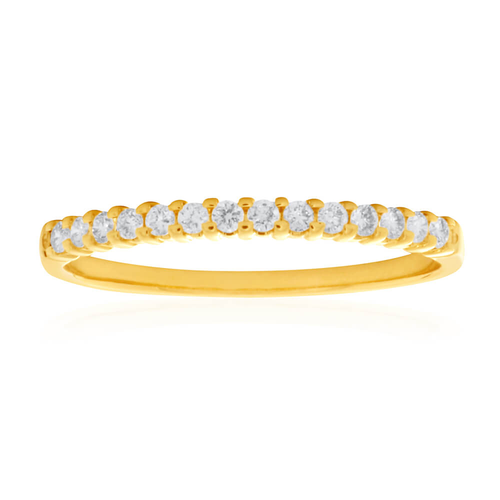 18ct Yellow Gold Ring With 0.15 Carats Of Diamonds