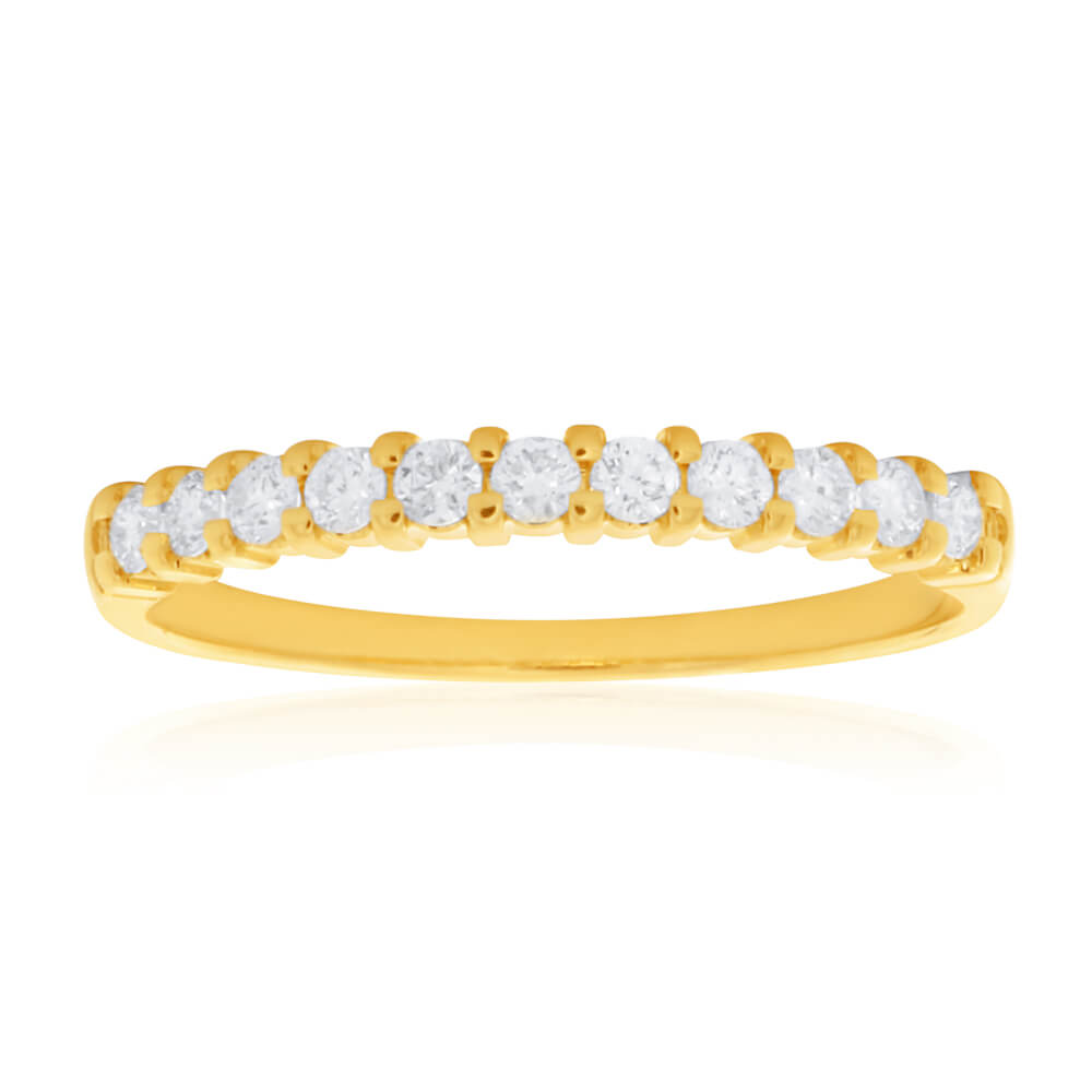 18ct Yellow Gold Ring With 0.25 Carats Of Diamonds