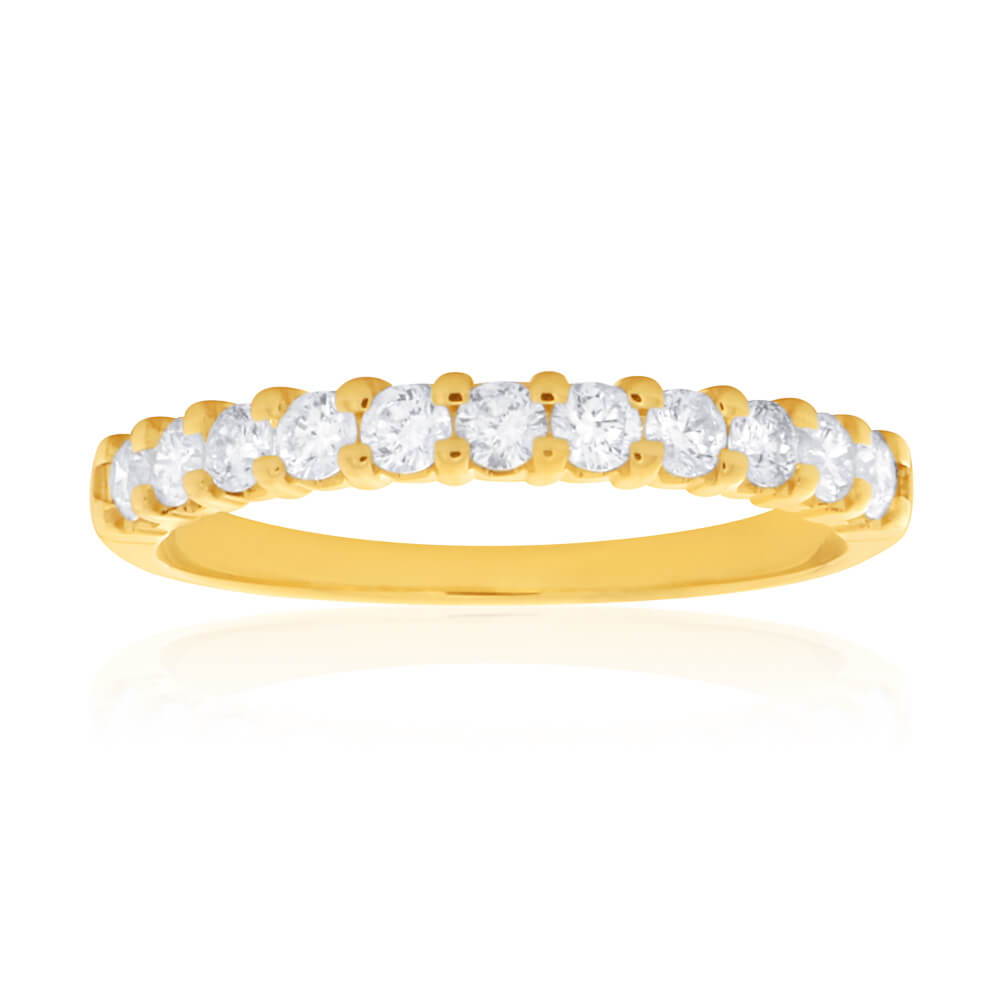 18ct Yellow Gold Ring With 0.4 Carats Of Diamonds