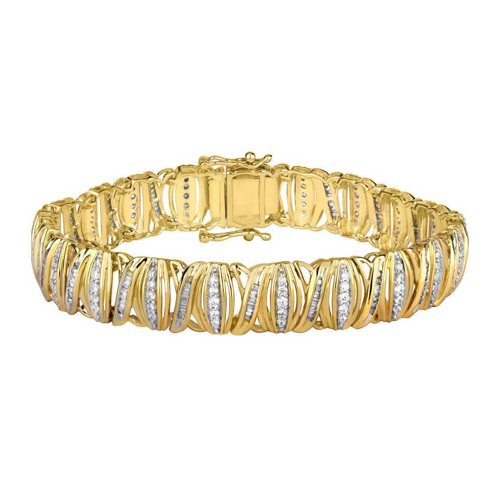 9ct Yellow Gold Enticing 2.5 Carat Diamond Bracelet