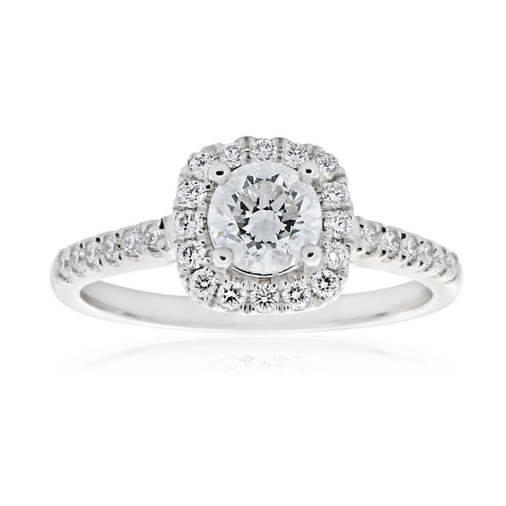 18ct 3/4 Carat Solitaire with ½ Carat GI SI Certified Centre Diamond