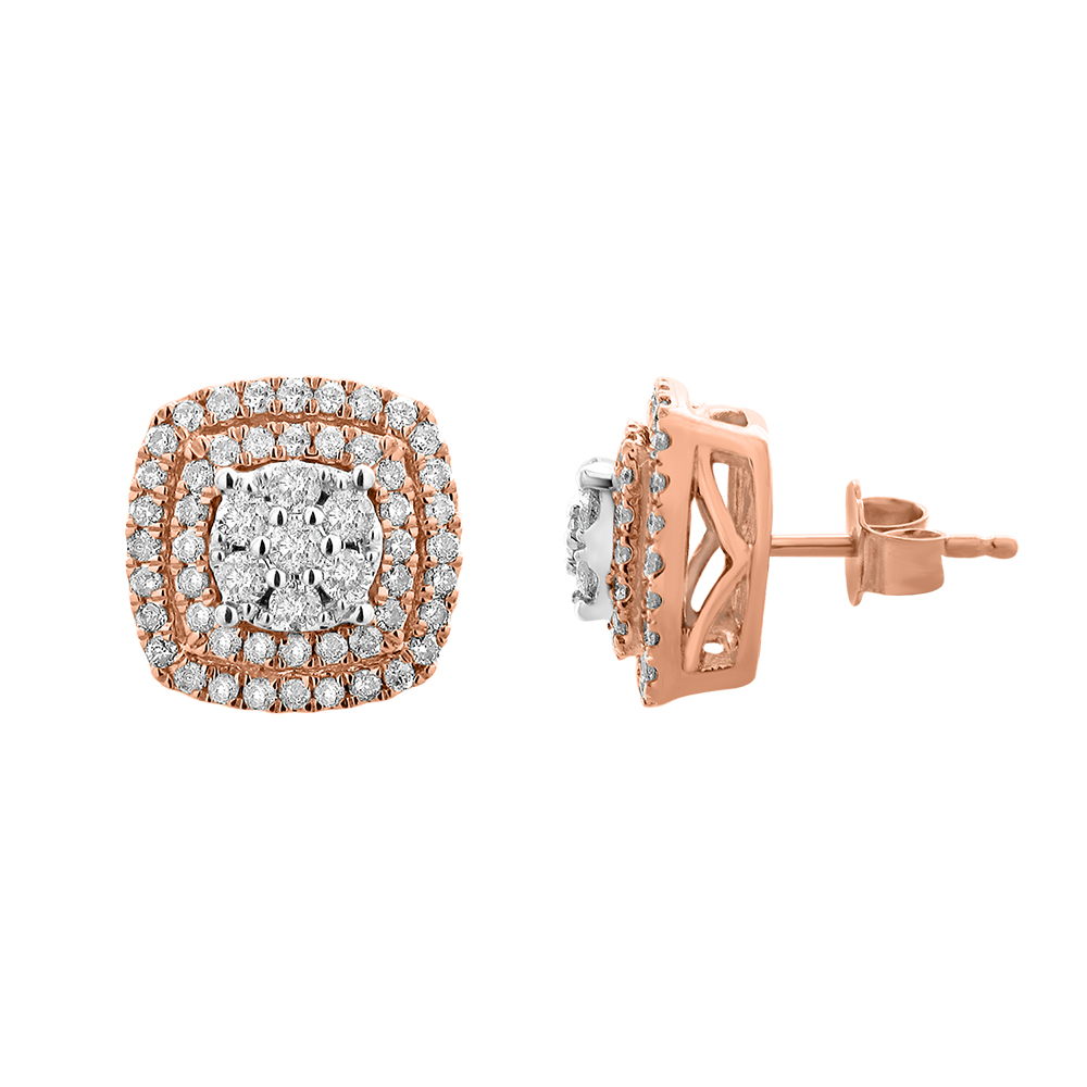 9ct Rose Gold Diamond Stud Accessories