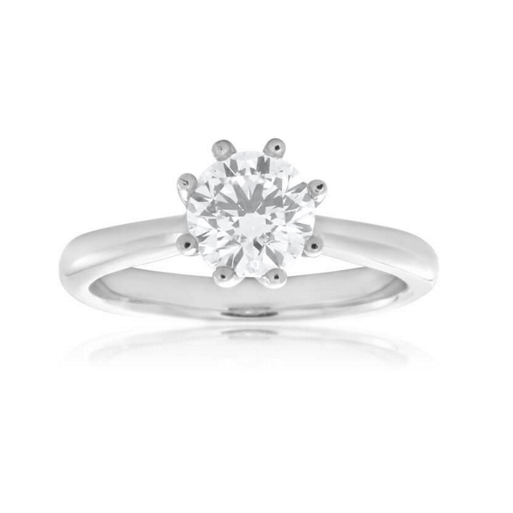 18ct White Gold Solitaire Ring With 1 Carat Certified Internally Flawless Diamond