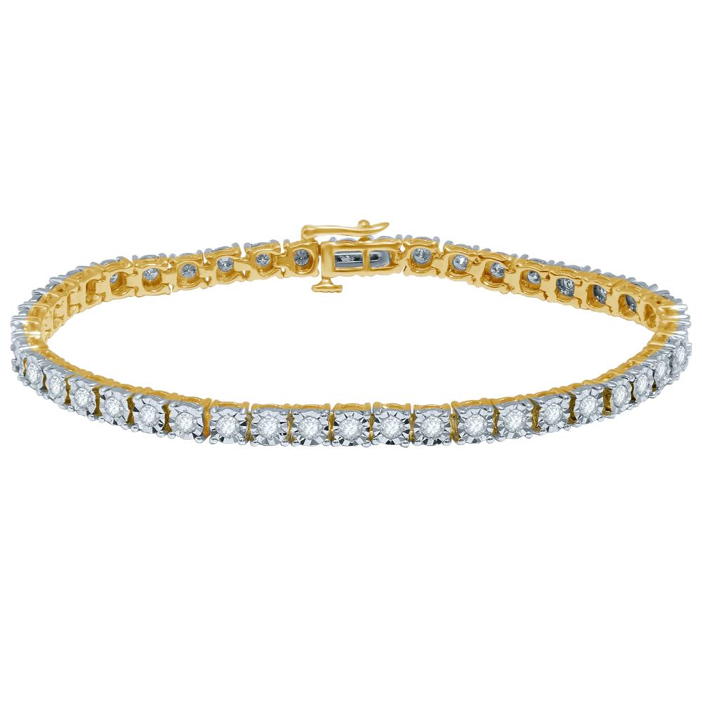 9ct Yellow Gold Magnificent Diamond Bracelet